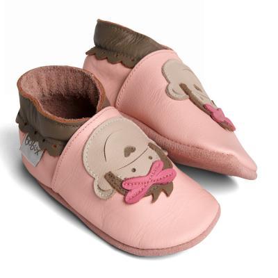 Buciki Bobux wzór różowa małpka